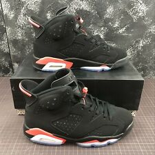 NIKE AIR JORDAN 6 RETRO BLACK INFRARED SCARPE SHOES SNEAKER NEW NUOVA CON SCATOL