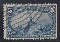 USA Scott #288  5 cent  Trans-Mississippi Expo  F *