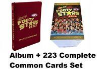 2020 AFL AFLW SELECT FOOTY STARS FULL SET 223 COMMON BASE CARDS + ALBUM FOLDER