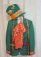 MENS green MAD HATTER jacket coat hat size S Alice in Wonderland unique OOAK