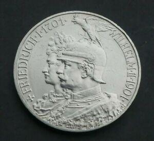 Preussen 5 Mark 1901 Wilhelm II. Friedrich 200 Jahrfeier Silber J106 Kaiserreich