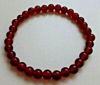 BRACELET PIERRE CORNALINE - lithothérapie perles boules AA 6mm