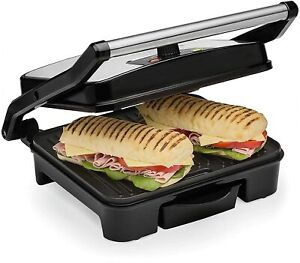 Panini Press & Health Grill 2000W with Extra Large Non-Stick Plates Andrew James