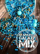 Starburst Galaxy Sprinkles Cake Cupcake Cookie Sparkles Edible