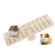 Pet Hamster Rabbit Rat Wooden Seesaw Teeterboard Teetertotter Mouse Mice Toys