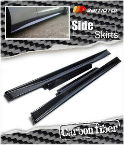 Replacements M Style Carbon Fibre Side Skirts fits 2009-2016 NISSAN GT-R R35 GTR