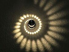 24 Volt LED Wandleuchte Kreis, Spirale, silber, für z.B. Loxone, FHEM, KNX