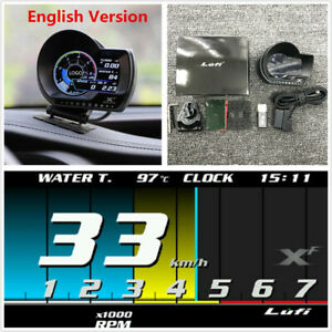 1x Multifunction OBD2 Turbo Boos Temperature Gauge Speed EXT Oil Meter For Car