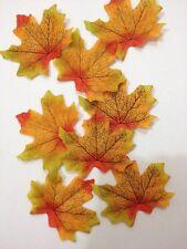 20 X hojas de árbol de arce otoño artificial para proyectos de bricolaje chatarra Libros Deco