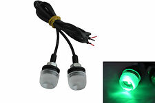 GREEN DRL Daytime Running LED Marker Lights Motorcycle Motorbike Trike Scooter