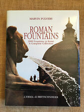 Roman Fountains by Marvin Pulvers. 2000 Fountains in Rome.  Hardback/dw