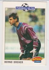 Panini Fussball 92-93 Action Cards #221 Bernd Dreher Bayer 05 Uerdingen