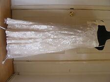 Monsoon S 16 Cream Gold Embellished Bridal EVENING Occasion CRUISE Wedding Dress