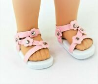 """Pink Flower Sandals Fits Wellie Wishers 14.5"""" American Girl Clothes Shoes"""