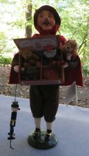 Byers Choice Caroler The Cries of London Toy Vendor Man Puppet, Bear New w Tag