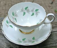 "Vintage Crown Staffordshire ""Eden"" Tea Cup and Saucer Green Grapes"