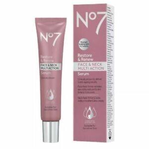 No7 Restore & Renew Face Neck Multi Action Serum (75ml ) 2.5oz