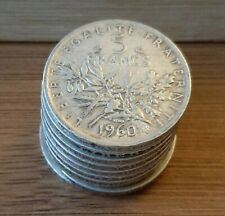 """Pièce 5 Francs Semeuse de 1960 """"prix unitaire et Quantité au choix"""" (#N1183)"""