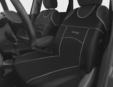 2 BLACK FRONT ECO LEATHER SEAT COVERS PROTECTORS FOR VW PASSAT B8