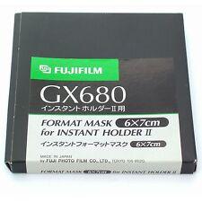 FUJI GX680 III Polaroid Back Masque 6x7cm, Entièrement Neuf dans sa boîte (pour instantanée Titulaire II)