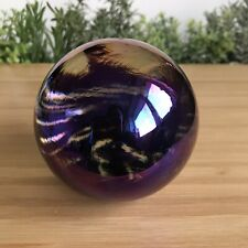 More details for stunning iridescent glasform paperweight (see photos, so beautiful) 580g - 7.1cm