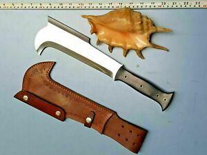 "14.50"" Custom Hand Made D2 Steel The Bill Hook traditional Hunting Machete knife"