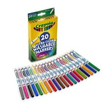 Crayola Ultra Clean Washable Markers 20 Count Box NEW