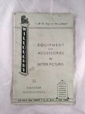 Willoughby Camera and Photography Equipment Store Catalog New York 1940s 1950s