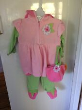 Size 3-6 Months Baby Grand Daisy Pink Flower Halloween Costume New Footed Pants