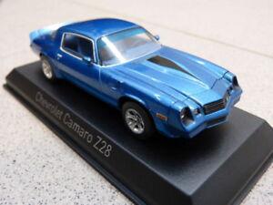 Chevrolet Camaro Z28 1980 Azul Metálico NOREV Coche a Escala Modelo 1:43