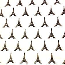 "Gift Wrap Tissue Paper: Eiffel Tower Design on White tissue-30 sheets 20"" x 30"""