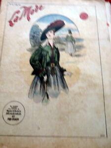 *Antique 1910s PARIS FASHION & SEWING PATTERN CATALOG LA MODE 1916 + Transfer