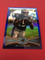 Joe Adams Panthers 2012 Topps Chrome Blue Refractor Rookie #133 1/199
