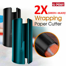 2X Sliding Wrapping Paper Cutter Craft Seconds Wrap Paper Christmas Cut Tool VW