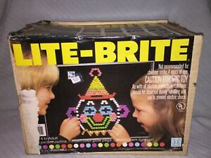 1978 Vintage Hasbro #5455 Lite Brite with Color Pegs and Sheets in the Orig. Box