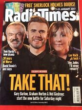 RADIO TIMES MAG TAKE THAT 7-13 January 2017 GARY BARLOW 30 years of Morse  Bowie
