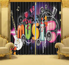 Cool To Play Music 3D Blockout Photo Curtain Print Curtains Fabric Kids Window