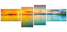 4 teiliges Bild auf Leinwand als Kunstdruck (55 x 166 cm HxB) Landschaftsbild