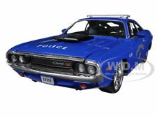 1970 DODGE CHALLENGER R/T COUPE POLICE BLUE 1/24 MODEL CAR BY MAISTO 31129