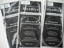 "HiyaHiya Knitting Needles Stainless Steel Circular Needle, 2.25mm x 100cm (40"")"