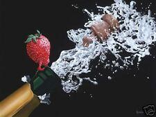 """*Michael Godard-""""POP THE TOP""""-Champagne-Cristal-Las Vegas-Celebration-Fun-Art-AP"""