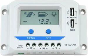 EPEVER 12V/24V 10 Amp Solar Panel Battery Regulator Charge Controller