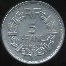 5 francs  LAVRILLIER   ALU 1947 B     ( 9 OUVERT )   ( SUP )