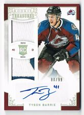 2012-13 Rookie Anthology Rookie Treasures Autograph Patch #111 Tyson Barrie /99