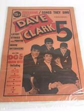 1964 Dave Clark DC 5 Charlton Tabloid Magazine Collectors Songs Photos Interview