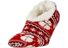 Field & Stream -Yaktrax Women's Cabin Sock Cozy Slipper Socks (you pick) SNOWMAN