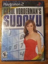 Sudoku Game Carol Vorderman's (Sony PlayStation PS2 Game) NEW Sealed