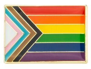 Progress Pride LGBTQ  - Gay/ Trans/ Ethnic Minorities Rights : Pin Badge