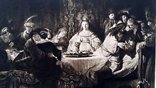 Rembrandt Heliogravure  France 1800,s 9x12  the queens table