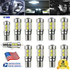 10 X T10 501 194 W5W 5630 LED 6SMD Bulbs Car HID CANBUS Error Free Wedge Lights